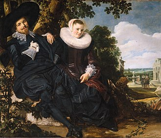 Portrait of Isaak Abrahamsz. Massa - Image: Frans Hals Wedding portrait of Isaac Abrahamsz Massa and Beatrix van der Laan