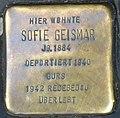 Freiburg-Stolperstein für Sofie Geismar-CTH.jpg