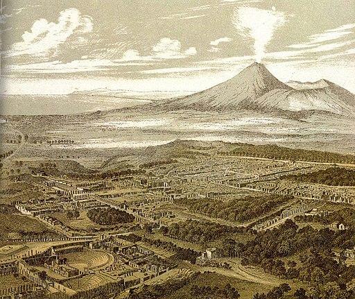 Friedrich Federer - Pompeji aus dem Südosten - 1850