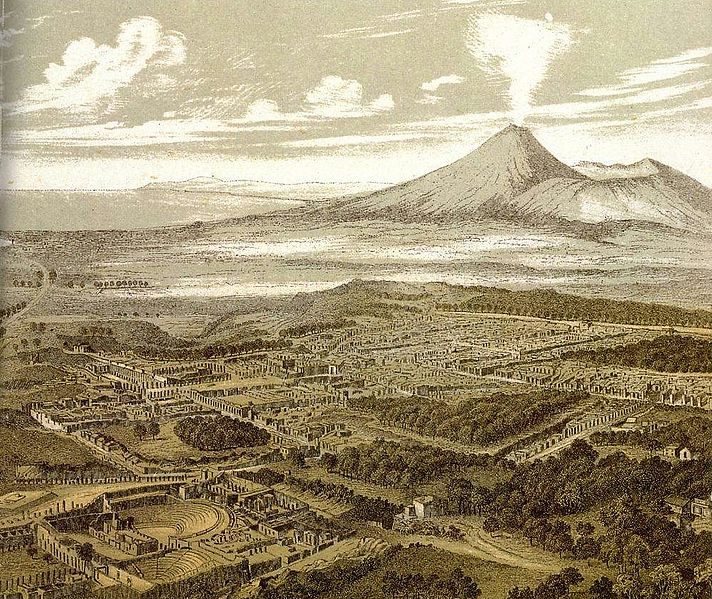 File: Friedrich Federer - Pompei aus dem Südosten - 1850.jpg