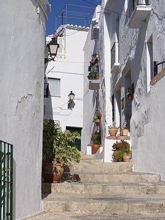 Axarquía - Street in Frigiliana.