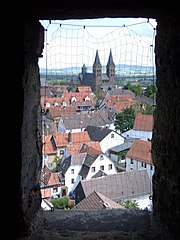 view over Fritzlar out of the watchtower