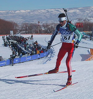 Frode Andresen - Frode competing in the 20km Individual at the 2002 Winter Olympics.