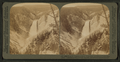 From Pt. Lookout, 1,000 ft. above river, up cañon to Lower Falls (308 ft.) Yellowstone Park, U.S.A, by Underwood & Underwood.png