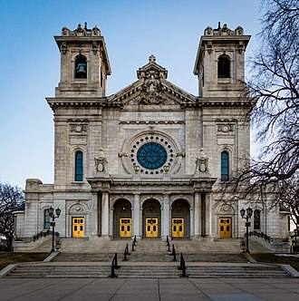 Basilica of Saint Mary (Minneapolis) - Image: Front Entrance to the Basilica of Saint Mary