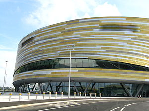 Derby Arena - Image: Frontage of Derby Velodrome at Pride Park, Derby, England