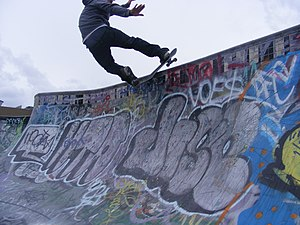 A photograph of the skateboarding trick called...