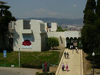 Joan Miró - The Fundació Joan Miró Museum on Montjuïc in Barcelona. The building is by rationalist architect Josep Lluís Sert.