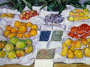 1882 in art - Image: G. Caillebotte Fruits sur un étalage