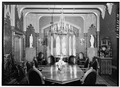 GENERAL VIEW OF DINING ROOM TO EAST - Lyndhurst, Main House, 635 South Broadway, Tarrytown, Westchester County, NY HABS NY,60-TARY,1A-58.tif