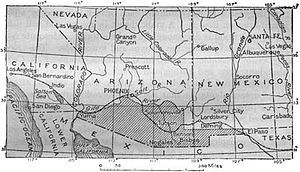 Gadsden Purchase Wikipedia - Us map after the gadsen purchase