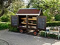 Garden produce sale cart at Myddelton House, Enfield, London, England.jpg
