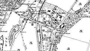 Monmouth Gasworks - OS Map of Gasworks in Monmouth 1880