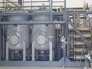 Pressure swing adsorption - Gas separator membrane skid used in landfill gas utilization process