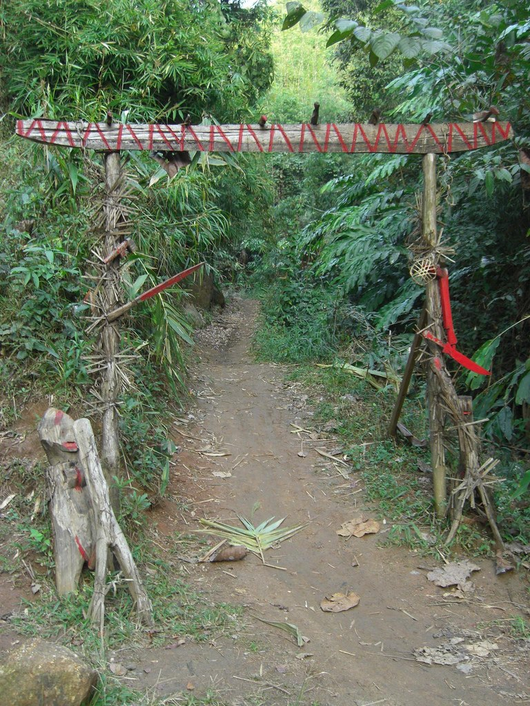 Gate leading to the akha hilltribe village
