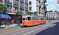 Genève tram 715+306 on Rue de Carouge in 1978.jpg