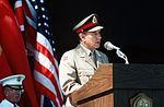 Gen. Vigleik Eide speaks during the change of command ceremony at which Adm. Frank B. Kelso II is replaced by Adm. Leon A. Edney as Commander in Chief, U.S. Atlantic Command (2).jpg
