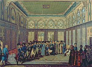Jean-Baptiste Annibal Aubert du Bayet - General Aubert du Bayet with his Military Mission being received by the Ottoman Grand Vizier in Constantinople in 1796, by Antoine-Laurent Castellan.