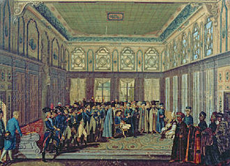 Ottoman military reforms - General Aubert-Dubayet with his Military Mission being received by the Grand Vizier in 1796, painting by Antoine-Laurent Castellan.