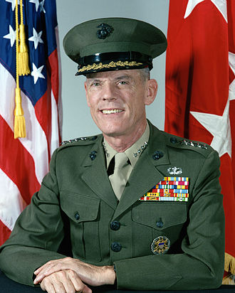 United States Central Command - Image: General George Crist, official military photo, 1985