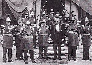Manchukuo Imperial Army - Manchukuo Imperial Army officers