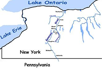 Genesee River - Image: Genesee map large