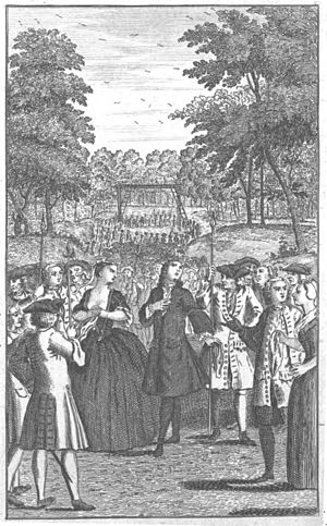 The London Merchant -  Frontispiece of The London Merchant, 1763.