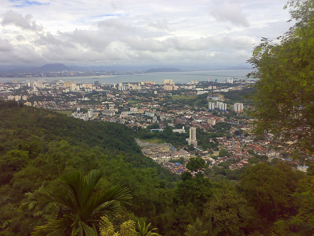 George Town , Penang. View from Penang Hill