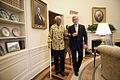 George W. Bush and Nelson Mandela - walking - Oval Office - May 17 2005.jpg