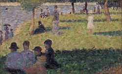 """Georges Seurat: Group of Figures (Study for """"Un dimanche à la Grande Jatte"""")"""