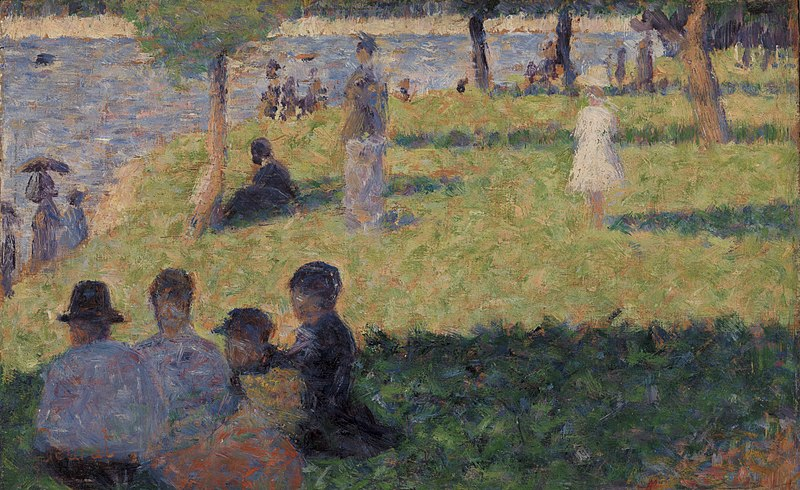 """File:Georges Seurat - Group of Figures (Study for """"Un dimanche à la Grande Jatte"""") - BF2506 - Barnes Foundation.jpg"""