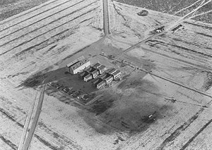 Japanese Village -  German and Japanese village, aerial view, 1943