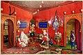 Germano prosdocimi, salotto orientale di villa lazarovich con scena di conversazione, 1854-55.jpg