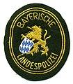 Germany - Polizei Bayern Bayerische Landes Polizei (yellow text on green)(old style) (5402629685).jpg