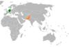 Lage von Deutschland und Pakistan
