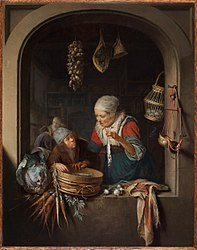 Gerrit Dou: Herring Seller and Boy