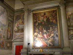 Oratory of Gesù Pellegrino - Image: Gesù pellegrino, pala d'altare centrale