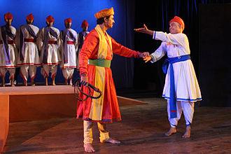 Sangeet Natak - Ghashiram Kotwal being performed  at Bharat Bhavan, Bhopal