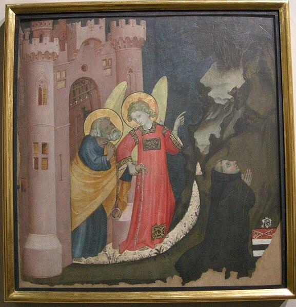 File:Giacomo jaquerio, liberazione di san pietro dal carcere, 1405-1410 ca..JPG