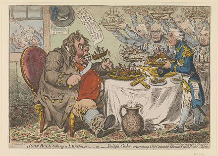 The Vogons' appearance in the film was partially based on the cartoons of James Gillray. Gillray - John Bull taking a Luncheon.jpg