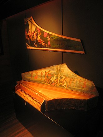 Spinet - Spinet by Zenti from 1637, now in the Musical Instrument Museum in Brussels