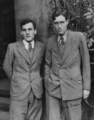 Giuseppe ('Beppo') P.S. Occhialini (1907–1993) and Patrick M.S. Blackett (1897–1974) in 1932 or 1933.png