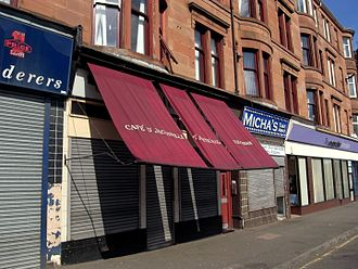 Trainspotting (film) - Image: Glasgow. Café D'Jaconelli. 570 Maryhill Road