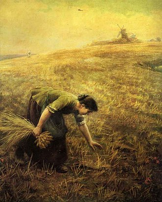 Gleaning - Gleaning by Arthur Hughes.