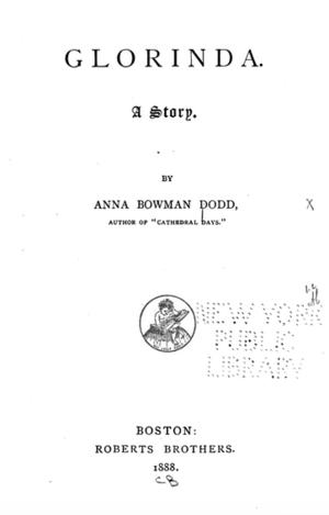 Anna Bowman Dodd - Image: Glorinda (1888)
