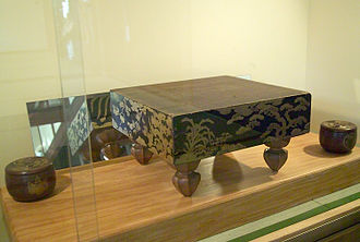 Tokugawa Ieyasu - Hideyoshi and Ieyasu played Go on this board.
