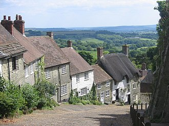Ridley Scott - Gold Hill, Shaftesbury in the English county of Dorset where Scott filmed the 1973 Hovis television commercial