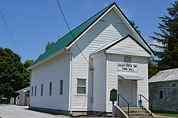 Township hall at Gomer