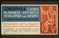 Gonorrhea causes blindness - arthritis, invalidism and misery LCCN98516061.tif