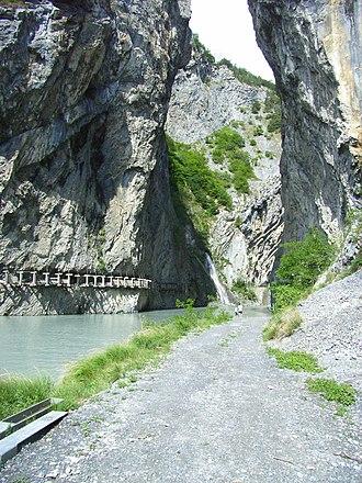 Ardon, Switzerland - Lizerne river gorge near Ardon